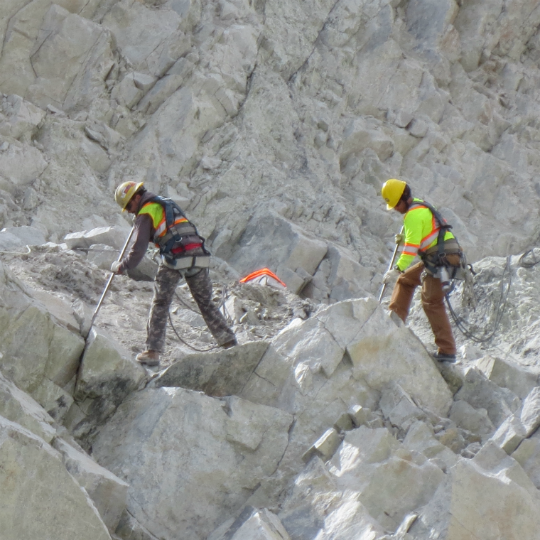 BAT Crews on a rock face in the North