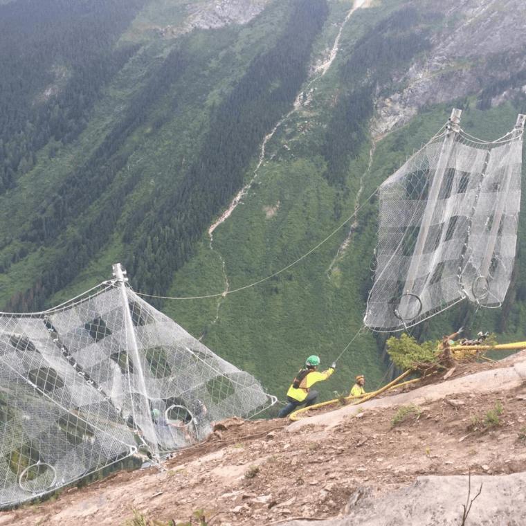 Mesh Installations Debris Flow Control